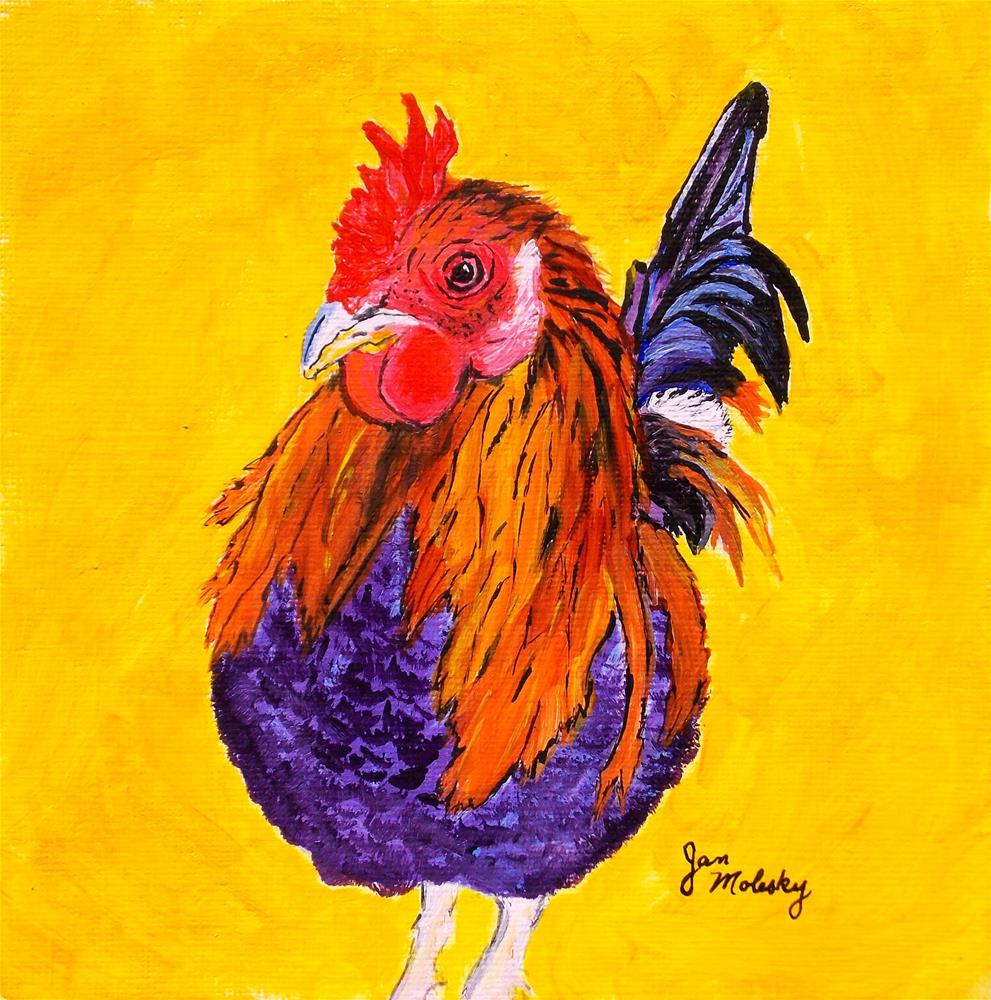 """Barney"" original fine art by Jan Molesky"