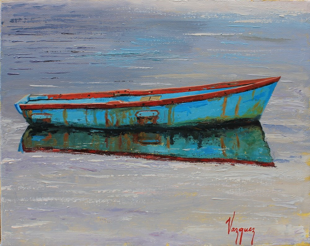 """On calm waters"" original fine art by Marco Vazquez"