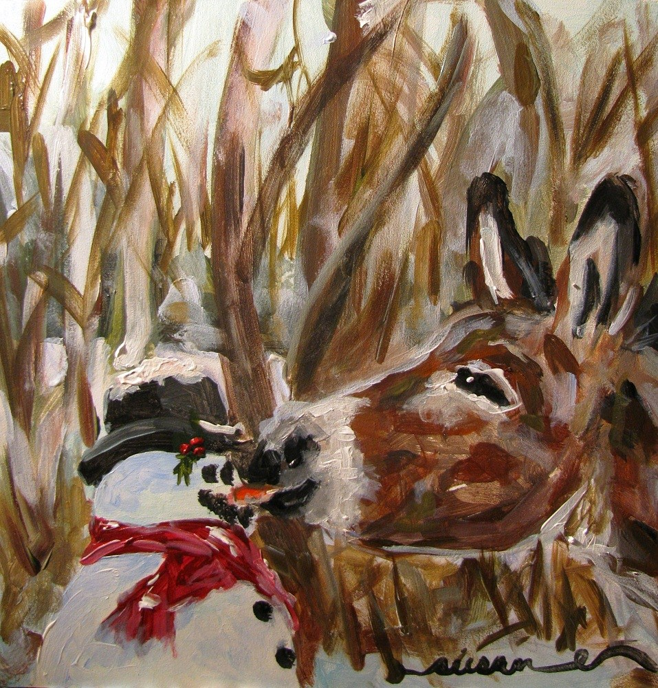 """Winter Crudite"" original fine art by Susan Elizabeth Jones"