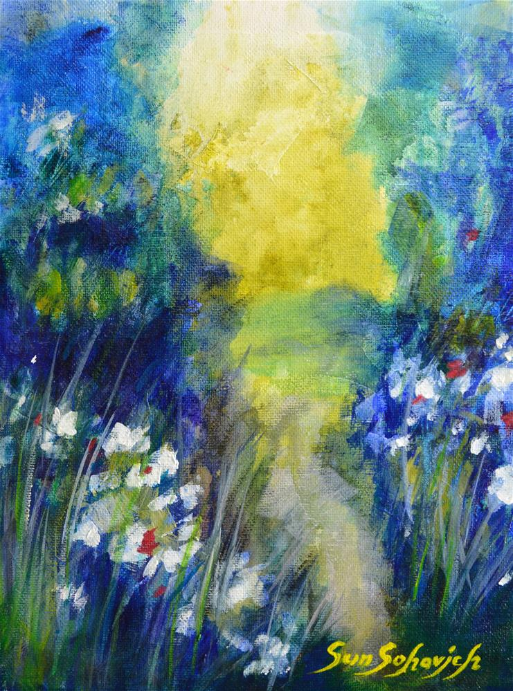"""Abstract country road "" original fine art by Sun Sohovich"