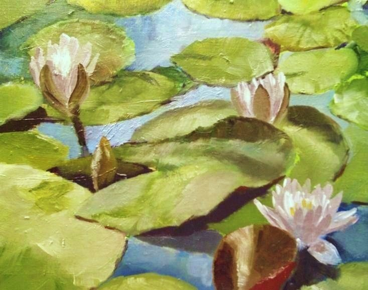 """Lily Pads and Blooms"" original fine art by Gary Bruton"