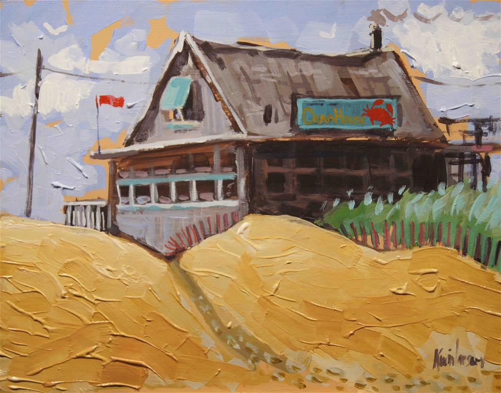 """Beach Crab House"" original fine art by Kevin Larson"