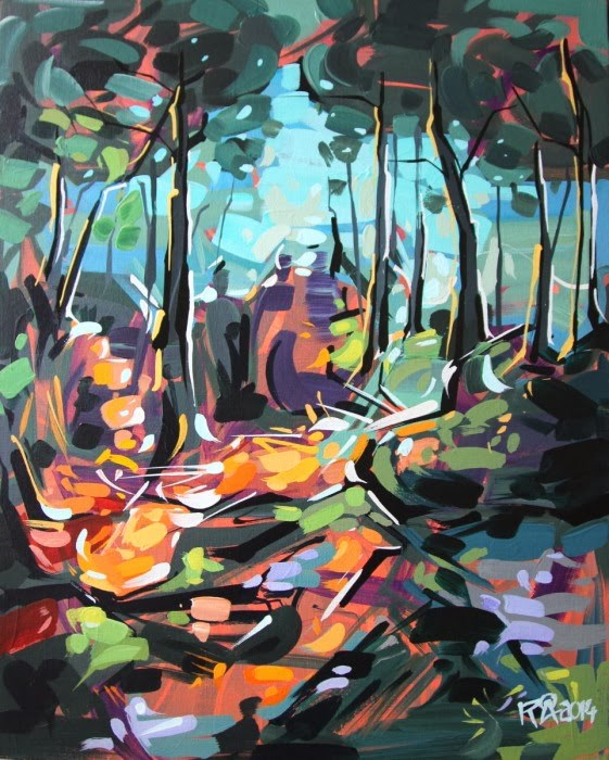 """Forest Exploration 9"" original fine art by Roger Akesson"