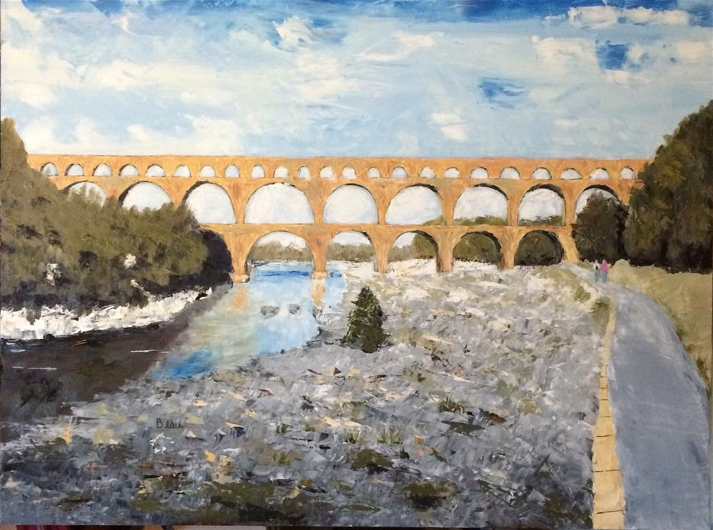 """Pont du Gard"" original fine art by Beau Crump"