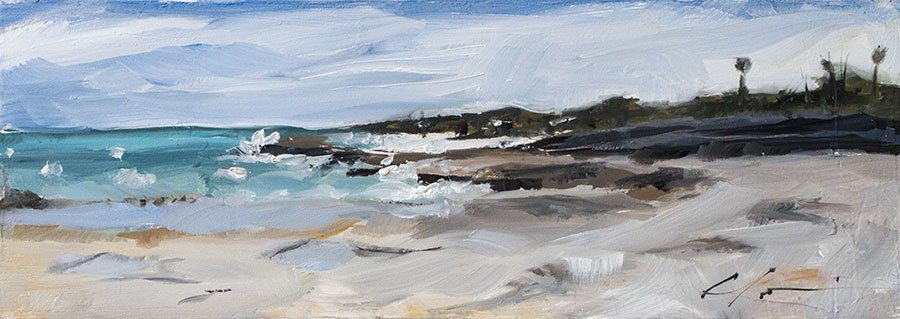 """Bermuda Coastline"" original fine art by Clair Hartmann"