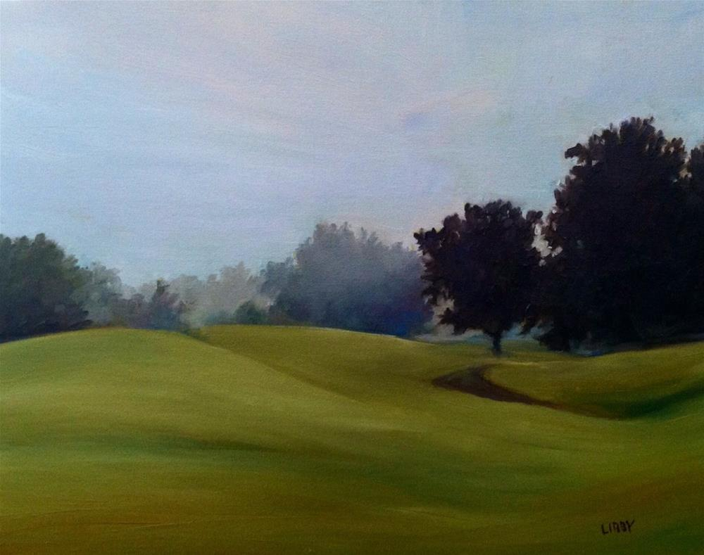 """Foggy Morning"" original fine art by Libby Anderson"
