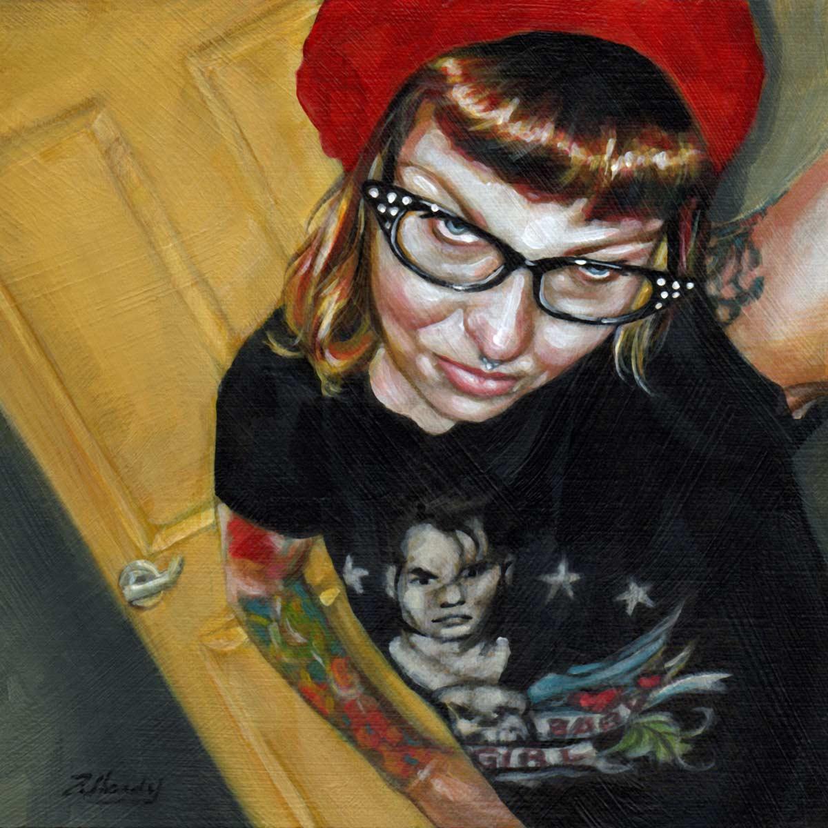 """At Arms Length#19, Helena Darling"" original fine art by Angela Hardy"