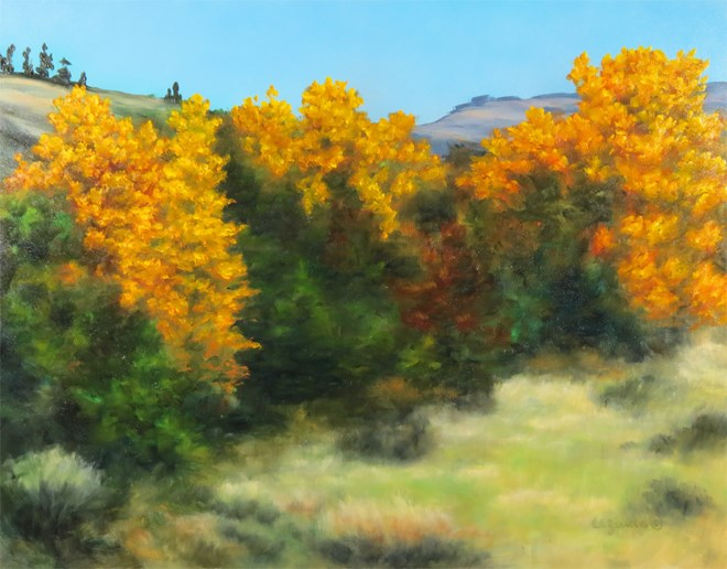 """Golden Lowlands"" original fine art by Carol Zirkle"