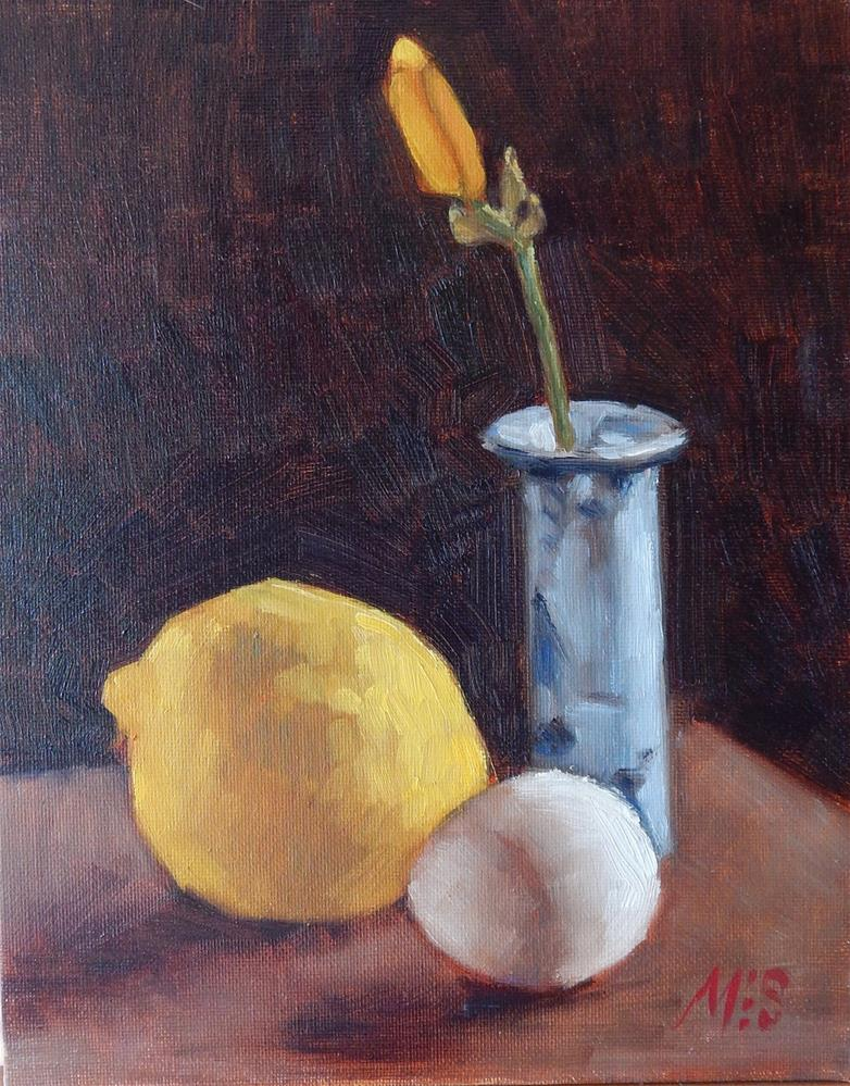 """Lily With Lemon and Egg"" original fine art by Megan Schembre"