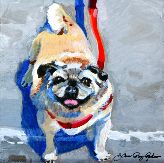 """Lucy, Goose, Booie-Super, Fatty-McFat"" original fine art by JoAnne Perez Robinson"
