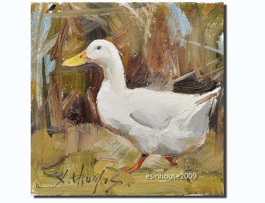 """duck"" original fine art by Thomas Xie"