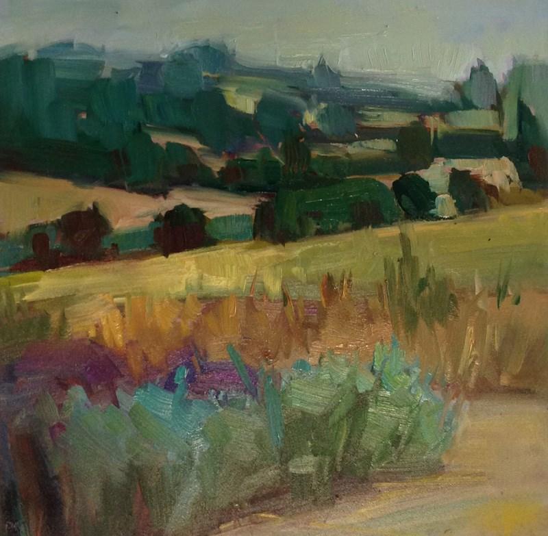 """Bit of Lavender"" original fine art by Patti McNutt"