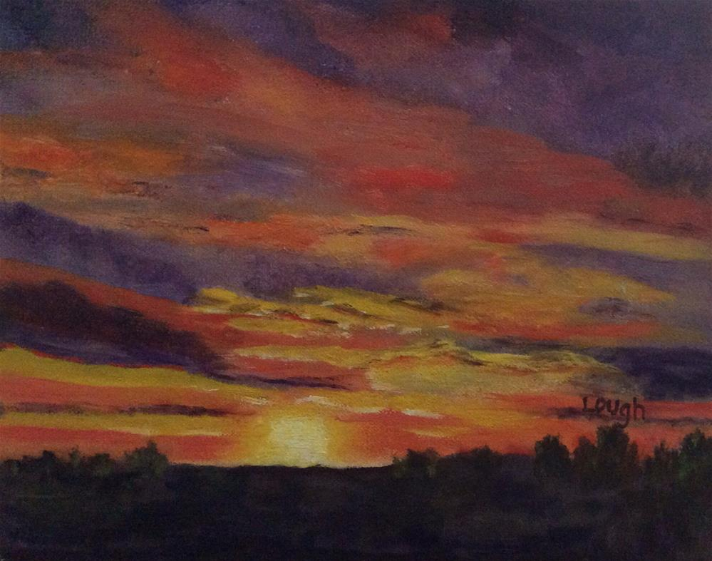 """New Mexico Sunset"" original fine art by Charlotte Lough"