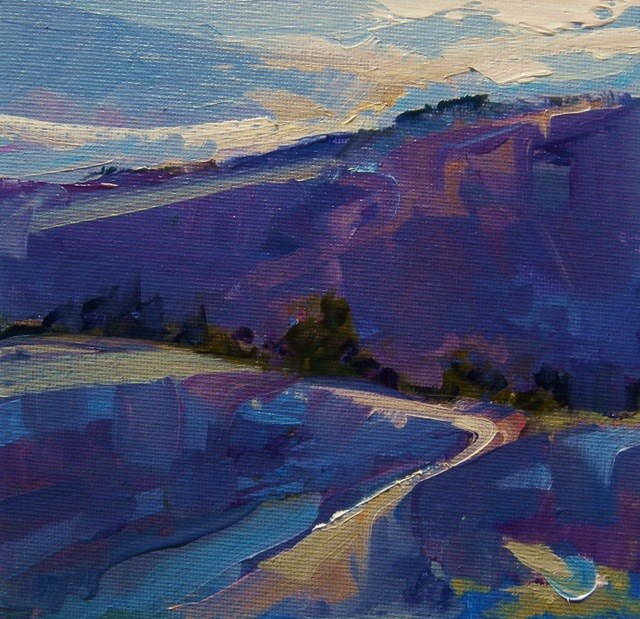 """Uphill Climb"" original fine art by Anne Wood"