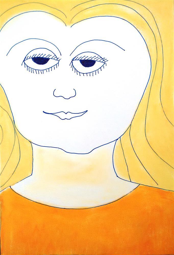 """""""Teena"""" original fine art by Adéla Svobodová"""