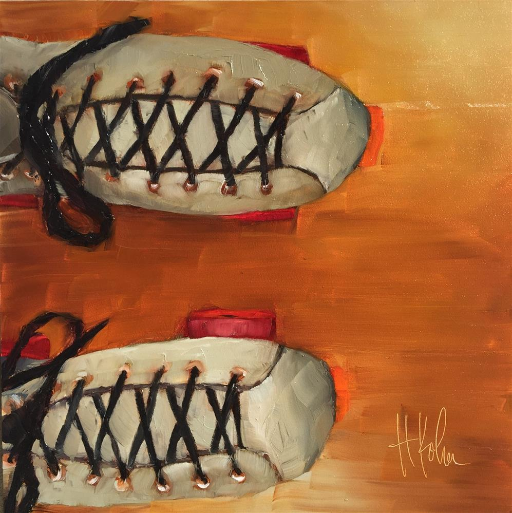 """Old School Skates"" original fine art by Hallie Kohn"