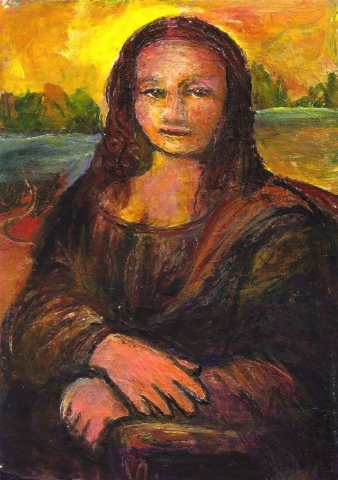 """ACEO My Mona Lisa in the Style of Leonardo da Vinci Painting Penny StewArt"" original fine art by Penny Lee StewArt"