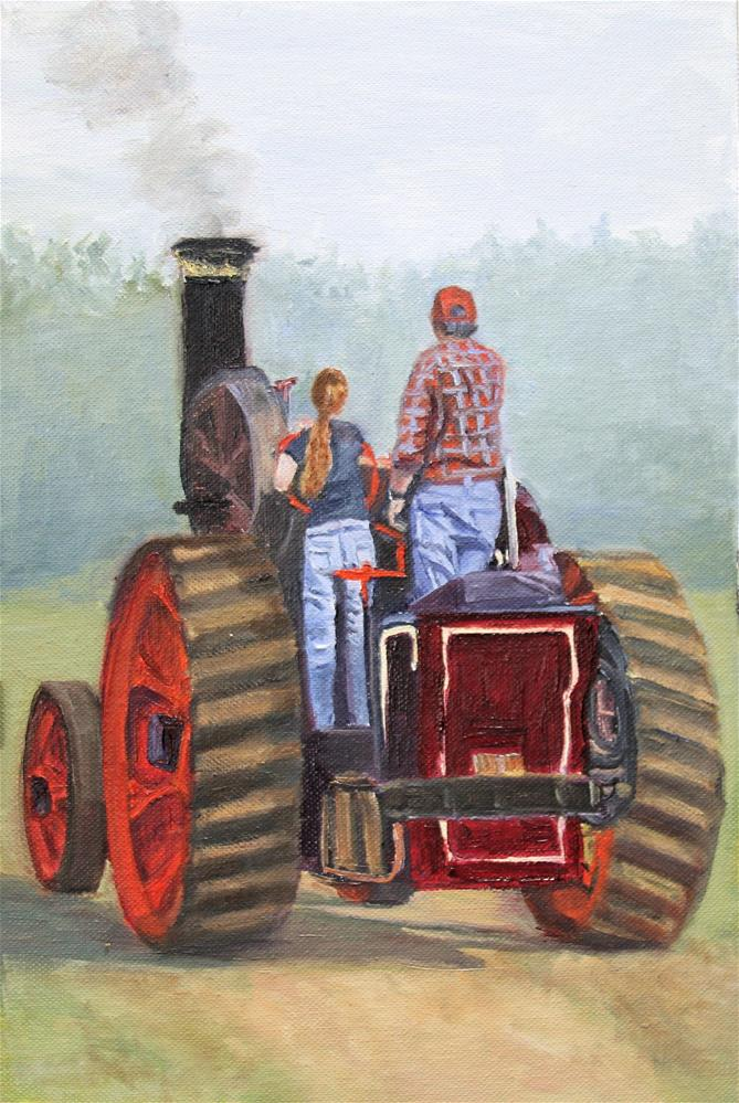 """Driving Lessons"" original fine art by Patricia Matranga"