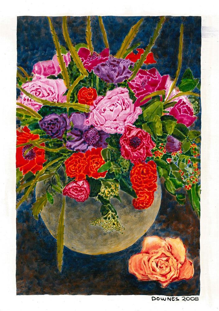 """202 CLASSIC FLOWERS 4"" original fine art by Trevor Downes"