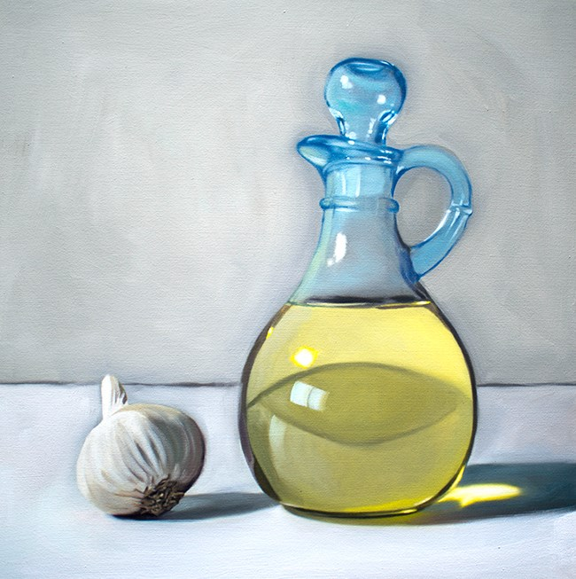 """Garlic and Olive Oil Curet"" original fine art by Lauren Pretorius"