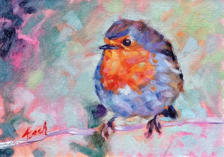 """""""Robin"""" original fine art by Audra Esch"""