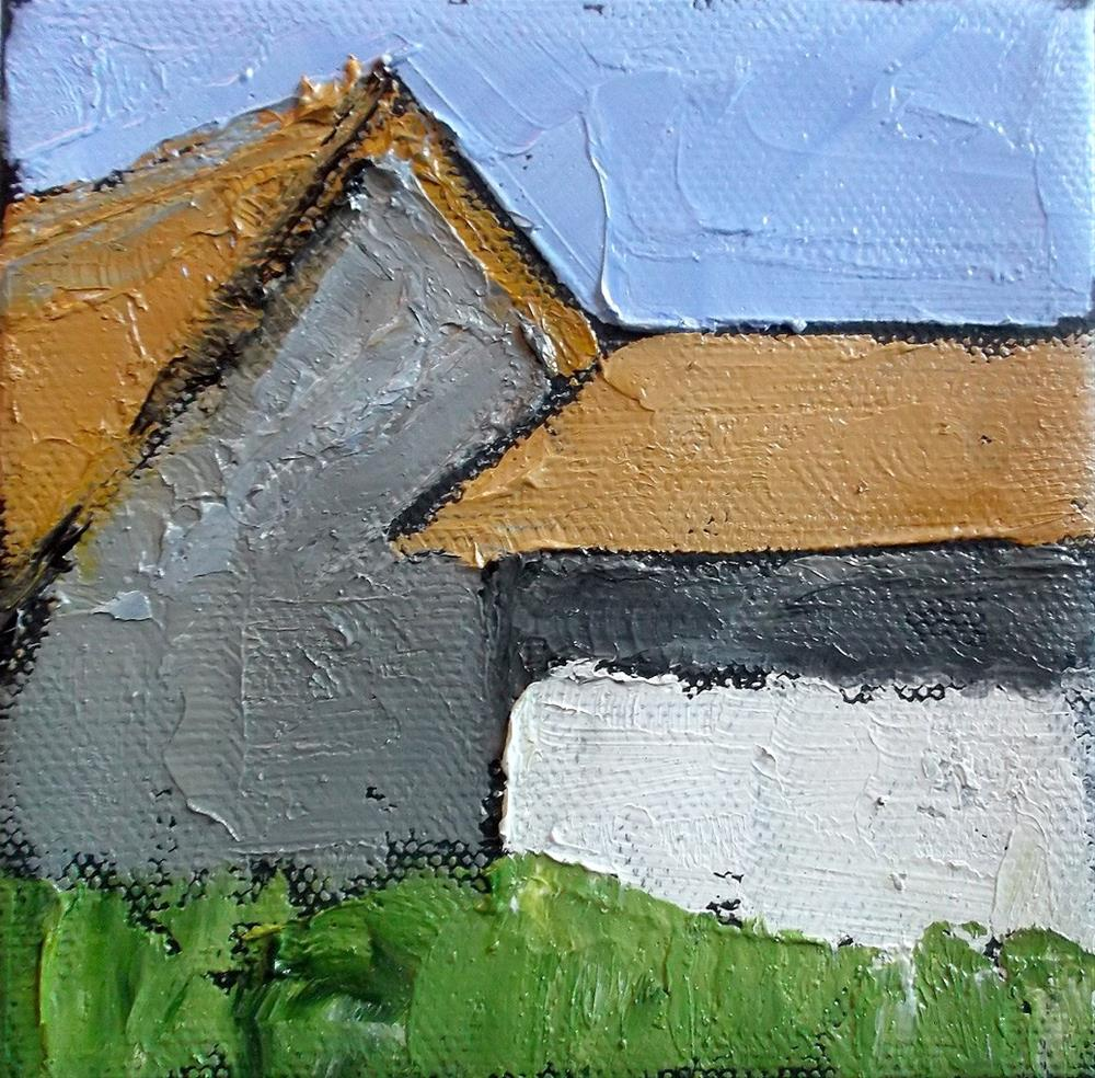 """Miniature Santa Cruz Barns"" original fine art by lynne french"