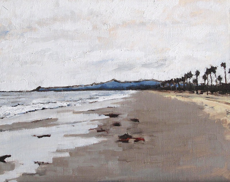 """Santa Barbara Beach Morning"" original fine art by Kevin Inman"