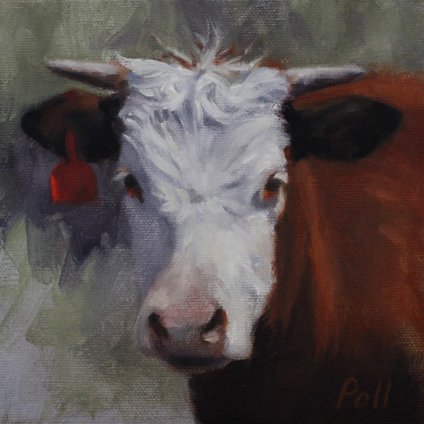 """Red Tag (Framed)"" original fine art by Pamela Poll"