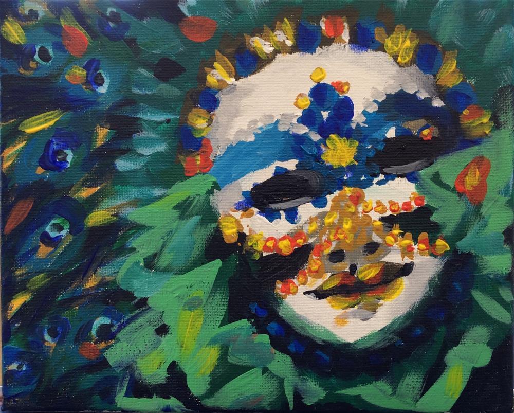 """Masquerade"" original fine art by Molly Rohrscheib Hathaway"