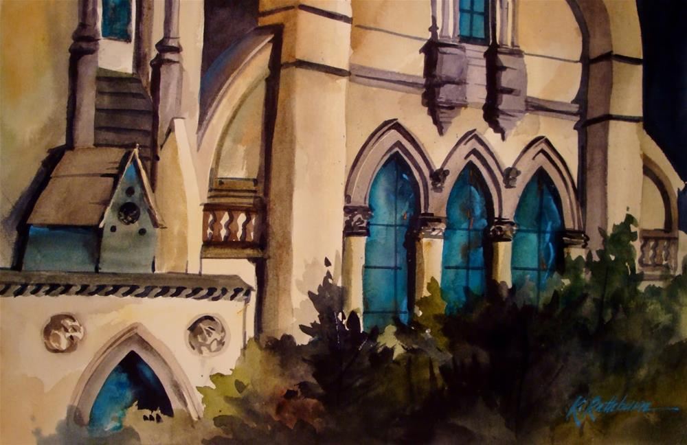 """Church Windows"" original fine art by Kathy Los-Rathburn"
