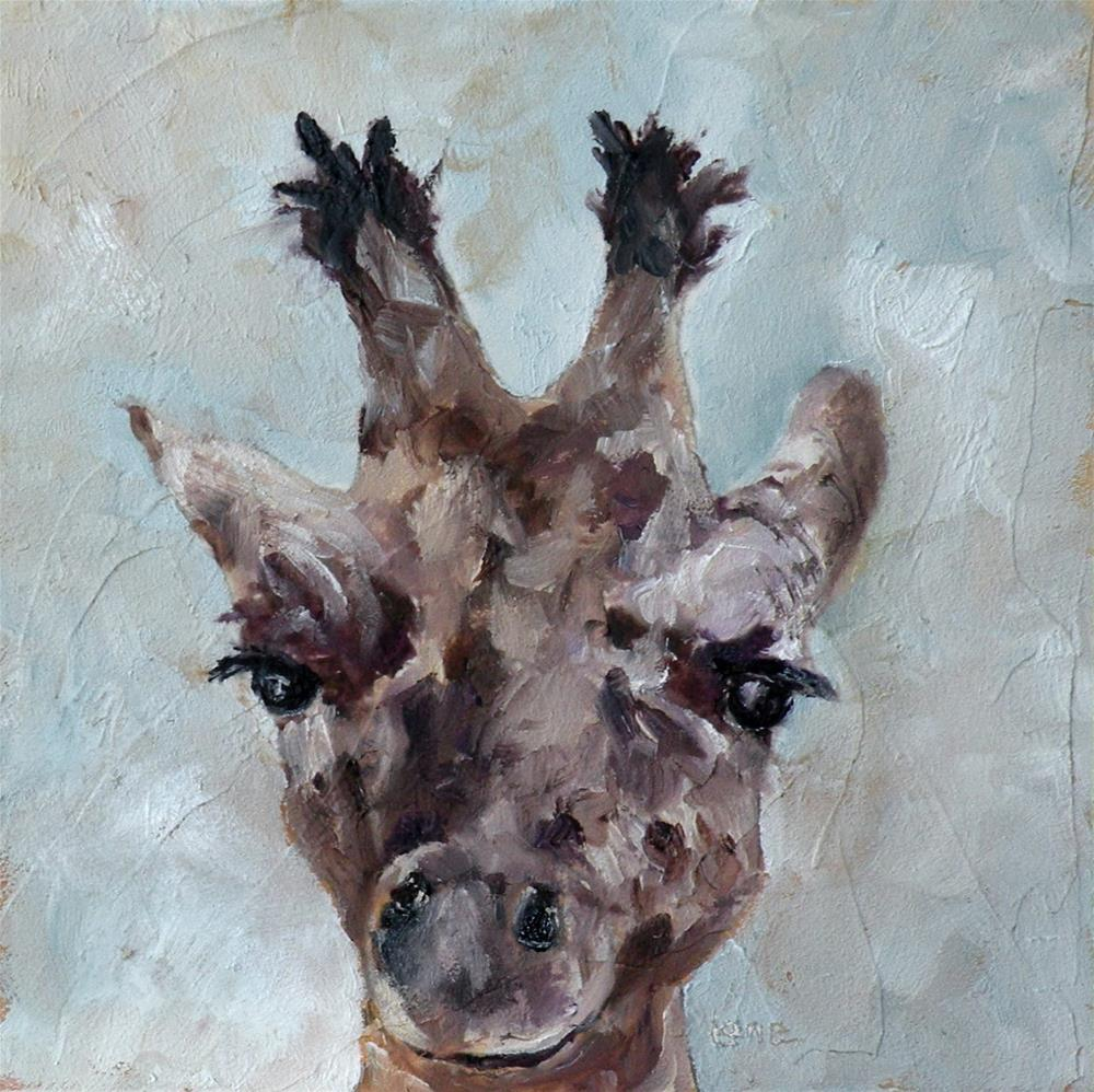 """SWEETNESS A GIRAFFE BABY © SAUNDRA LANE GALLOWAY"" original fine art by Saundra Lane Galloway"