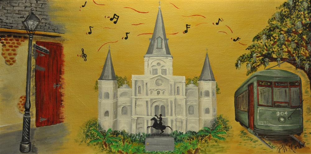 """City of New Orleans"" original fine art by Peggy W Morvant"
