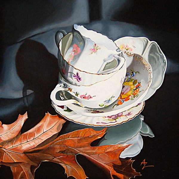 """Tea for Three"" original fine art by Alex Zonis"