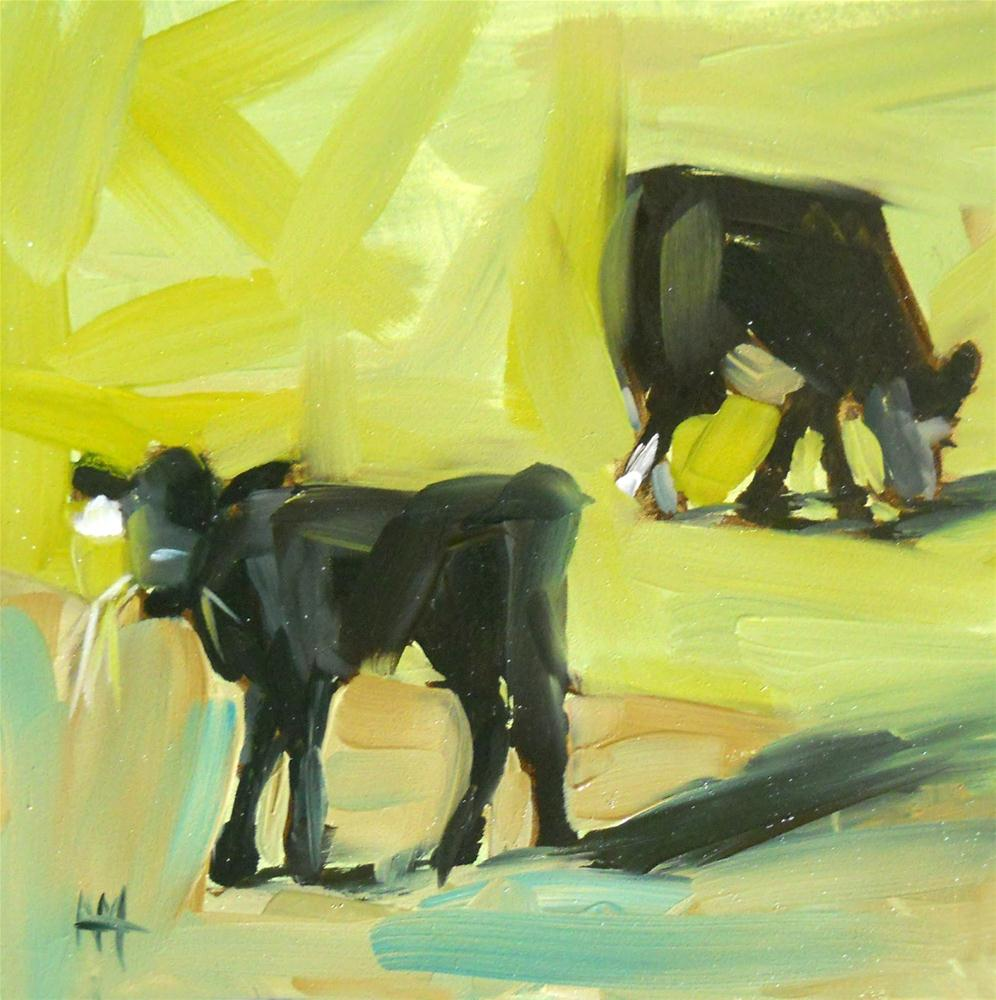 """just grazing"" original fine art by Angela Moulton"