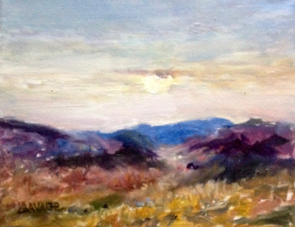 """Midmorning in the Foothills"" original fine art by Judy Usavage"