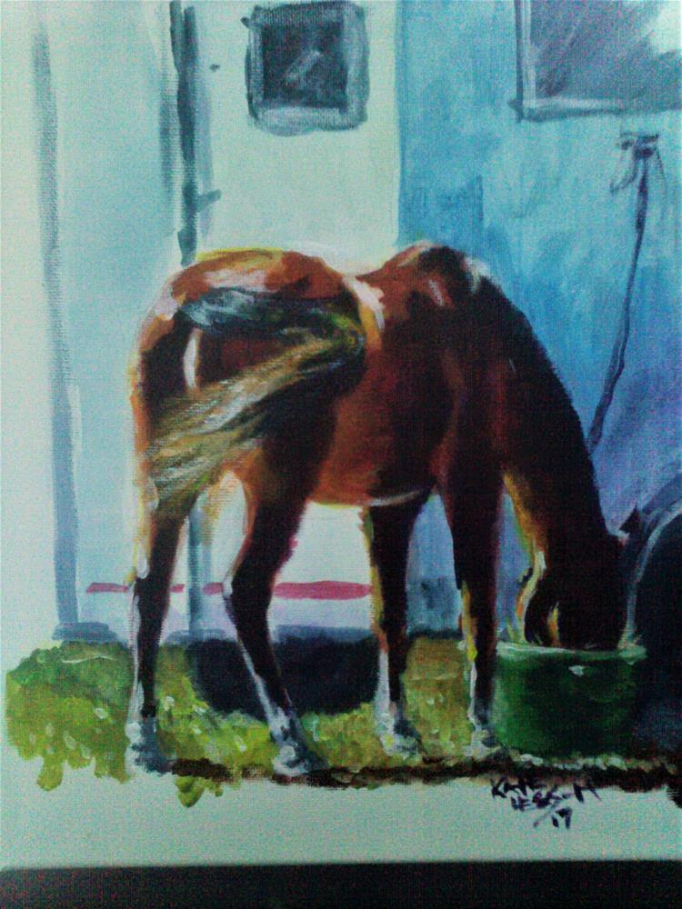"""""""Eating Out"""" original fine art by Kate Less-Madsen"""