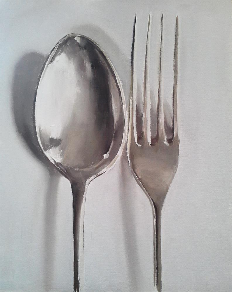 """Fork and Spoon"" original fine art by James Coates"