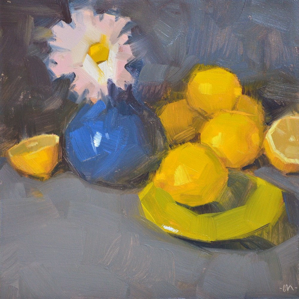 """Surrounded By Lemons"" original fine art by Carol Marine"