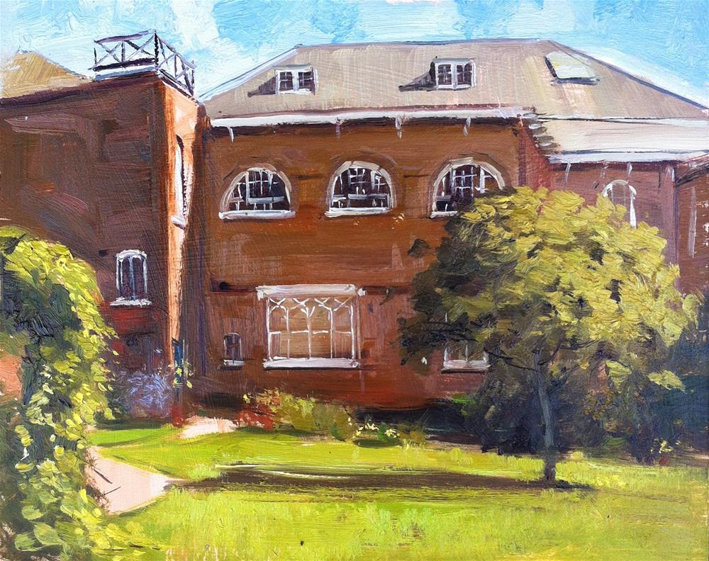 """Bar Convent, York"" original fine art by Adebanji Alade"