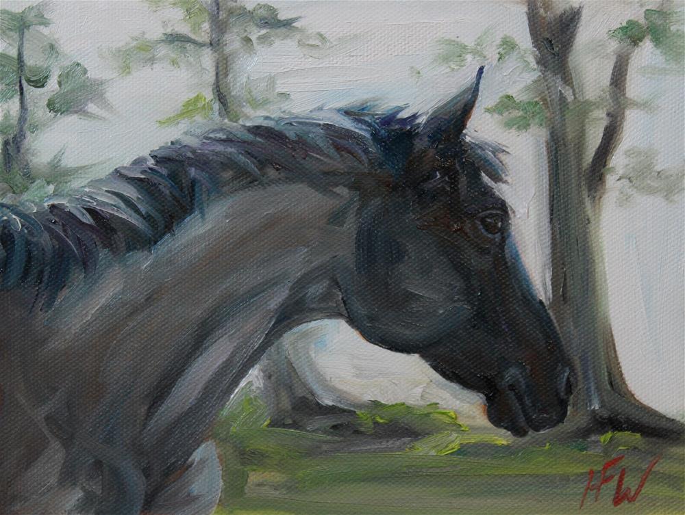 """""""Joey Blue"""" original fine art by H.F. Wallen"""