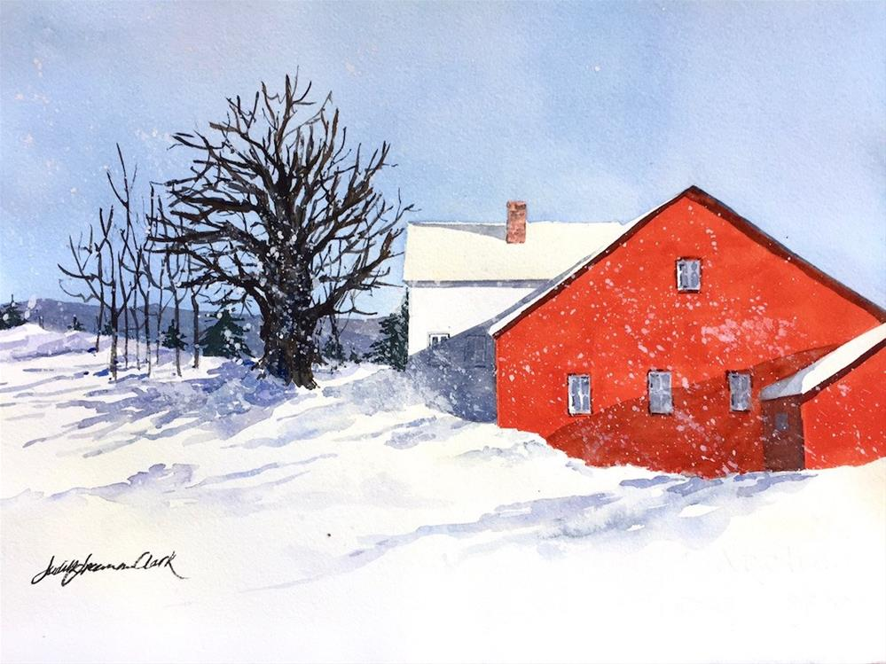 """Country Snowfall"" original fine art by Judith Freeman Clark"