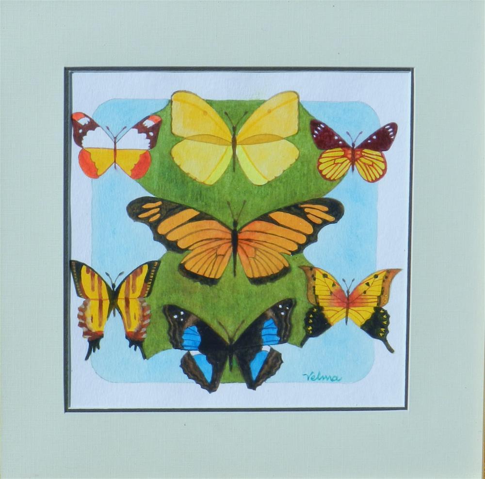 """Butterfly Medley #2"" original fine art by Velma Davies"