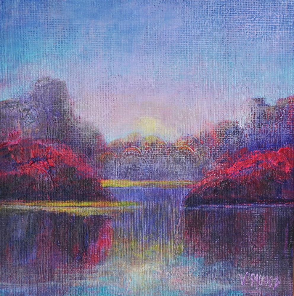"""A still morning"" original fine art by Véronique Saudez"