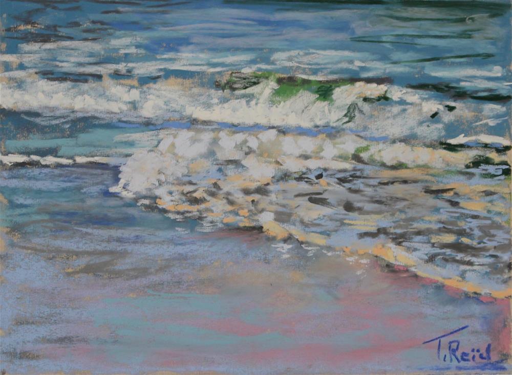 """""""Shore Waves #8"""" original fine art by Toby Reid"""