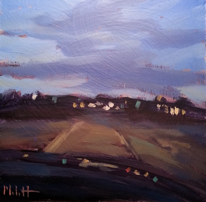 """Just Drive Summer Nights Daily Oil Painting"" original fine art by Heidi Malott"