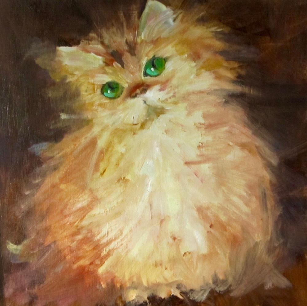 """Fluff"" original fine art by Christine Holzschuh"