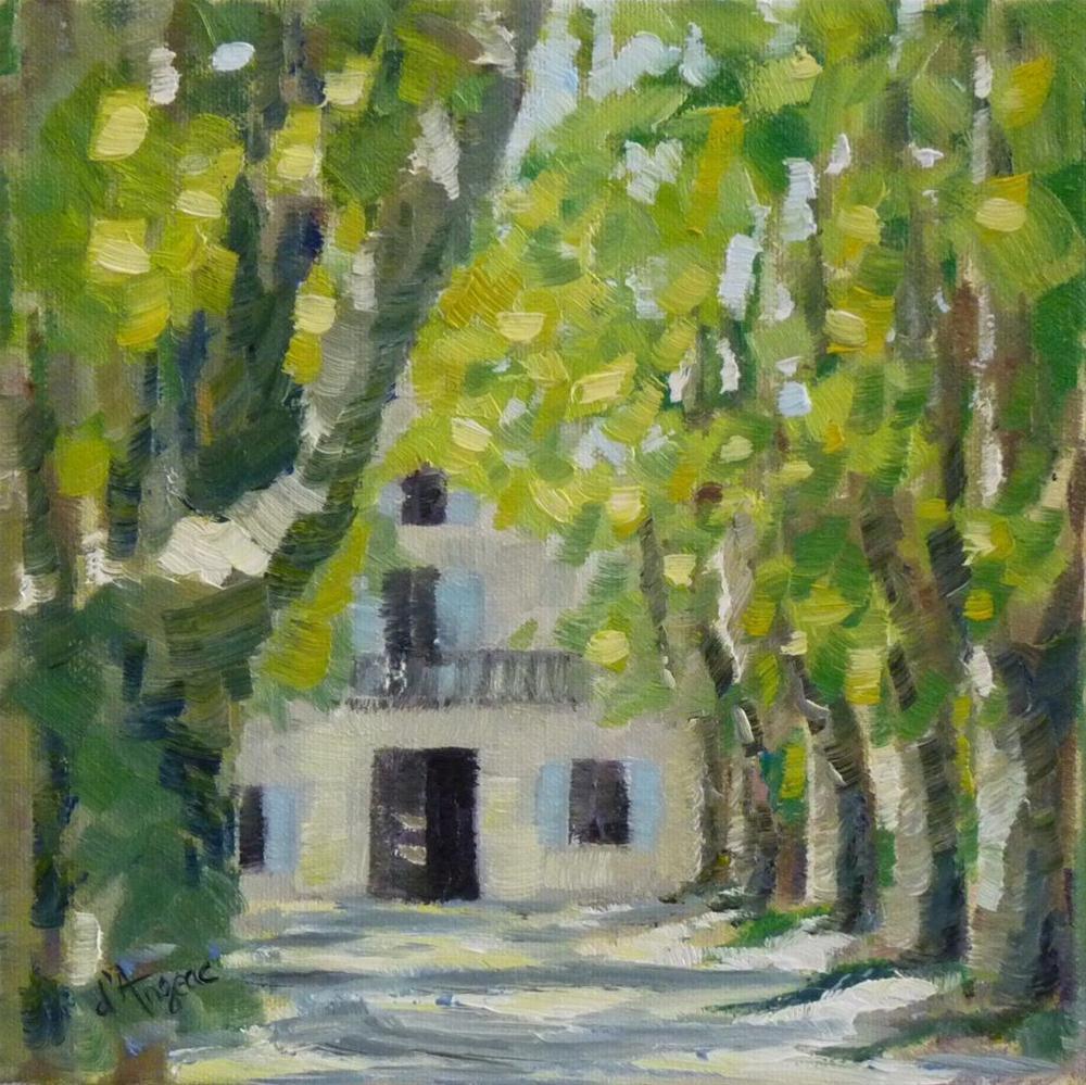 """""""Chateau des Alpilles II"""" original fine art by Karen D'angeac Mihm"""