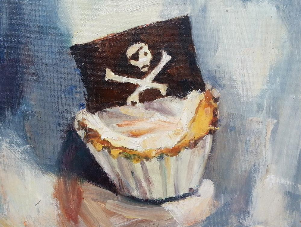 """Pirate Cupcake"" original fine art by Nava Judith"