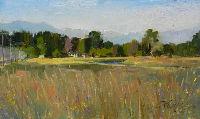 """""""The Hunt Club  plein air, oil , landscape painting by Robin Weiss"""" original fine art by Robin Weiss"""