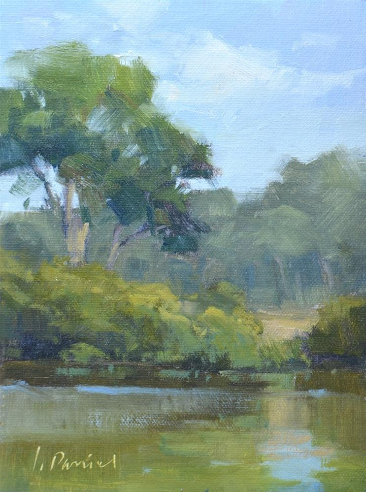 """Quiet Pond - Georgia Coast"" original fine art by Laurel Daniel"